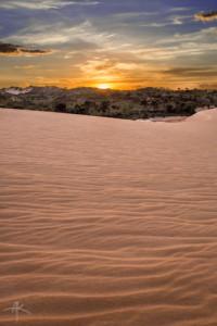 O pôr do Sol nas dunas do Jalapão é um espetáculo à parte.